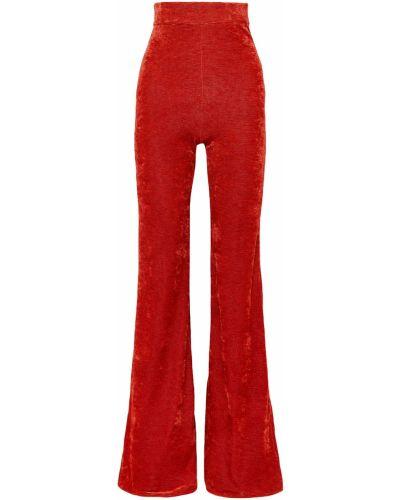 Spodnie w paski z wiskozy rozkloszowane Ellery