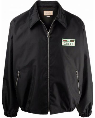 Koszula z wiskozy - czarna Gucci