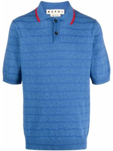 Koszula krótkie z krótkim rękawem klasyczna z paskami Marni