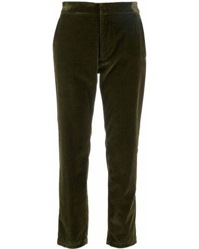 Укороченные брюки зеленый с карманами Barena