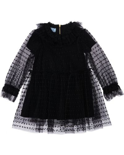 Черное платье в горошек Mi.mi.sol.