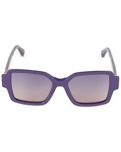 Фиолетовые солнцезащитные очки квадратные Roberto Cavalli