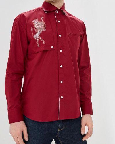 Рубашка с длинным рукавом бордовый красный Elijah & Sims