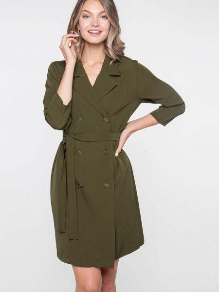 Платье платье-пиджак зеленый Лимонти
