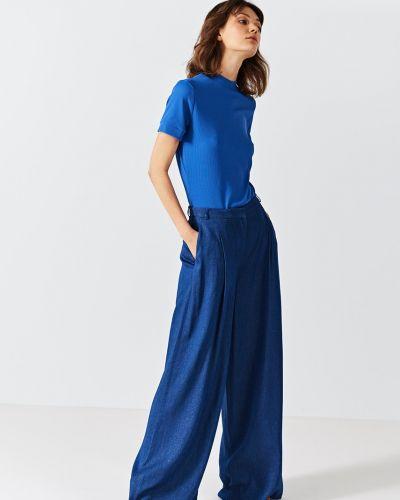Свободные брюки с карманами из вискозы Simple