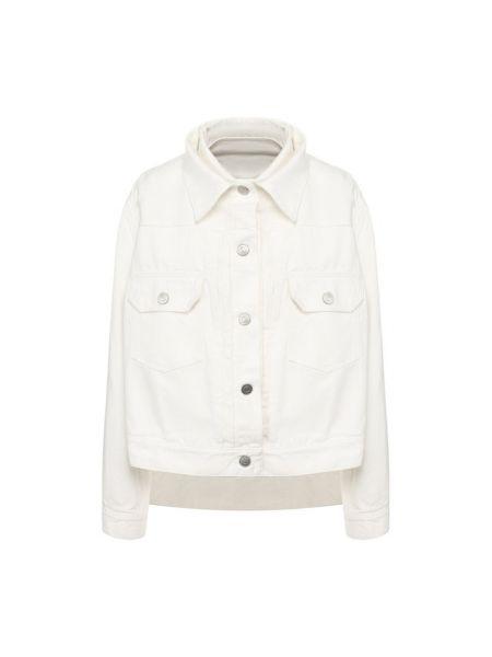 Хлопковая белая джинсовая куртка с подкладкой Sacai