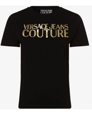 T-shirt z printem - czarne Versace Jeans