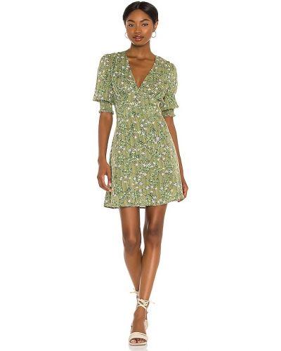 Зеленое платье мини бохо в полоску Minkpink