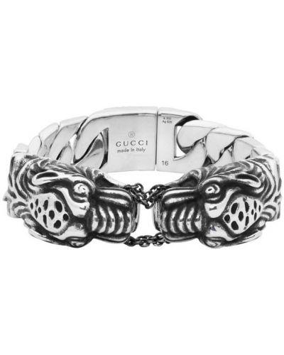 Браслет из серебра винтажный Gucci