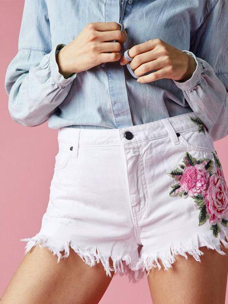 Хлопковые шорты - белые Up Jeans