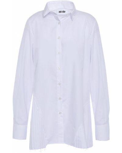 Хлопковая белая рубашка на пуговицах Each X Other