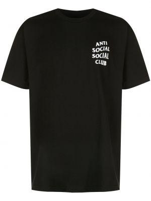 Koszula krótkie z krótkim rękawem z logo z nadrukiem Anti Social Social Club