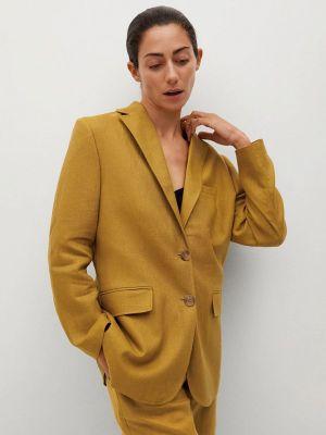 Пиджак - желтый Mango