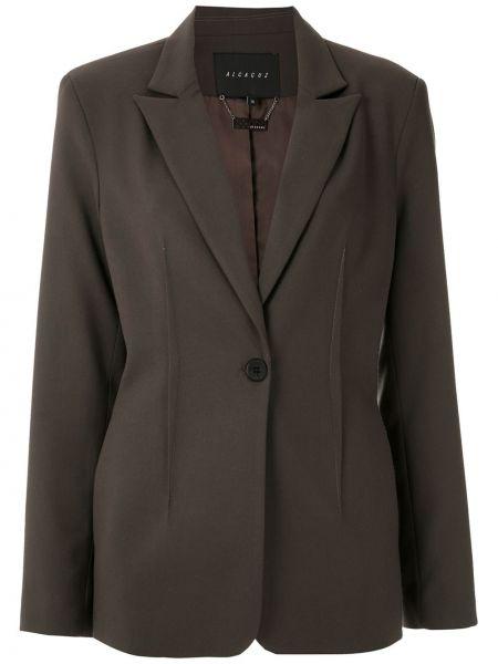Шерстяной серый классический пиджак с подкладкой Alcaçuz