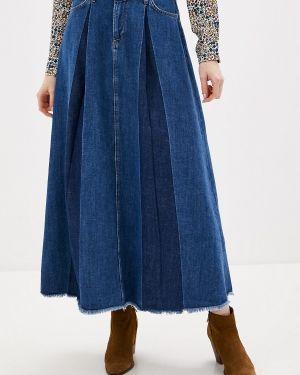 Джинсовая юбка синяя турецкий Pepe Jeans