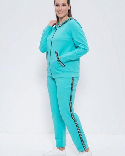 Костюмный бирюзовый спортивный костюм Cleo