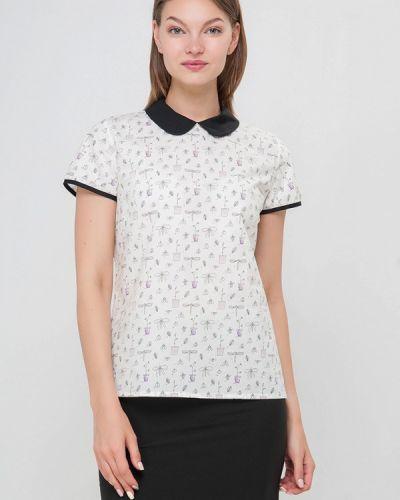 Блузка белая осенняя Лимонти