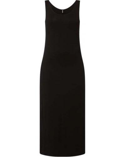 Czarna sukienka długa z wiskozy Pieces