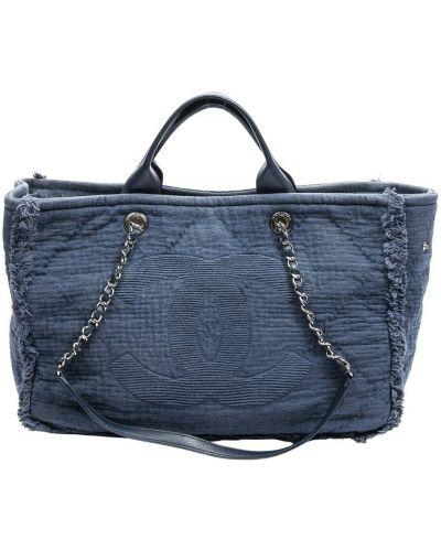 Niebieska torba na ramię Chanel Vintage