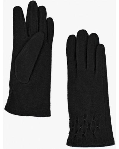 Черные перчатки текстильные Fabretti