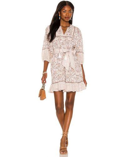 Платье мини с декольте - бежевое Cleobella