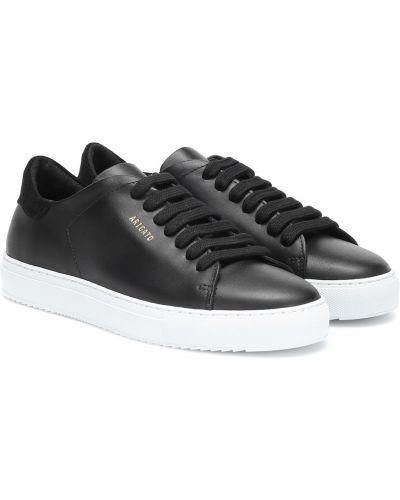 Кожаные кроссовки черные белый Axel Arigato