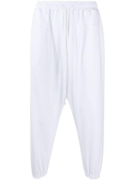 Ze sznurkiem do ściągania bawełna biały przycięte spodnie rozciągać Alchemy