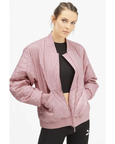 Утепленная куртка осенняя розовая Puma