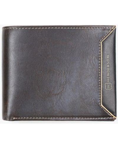 Коричневый кожаный кошелек Henderson