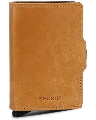 Żółty portfel Secrid