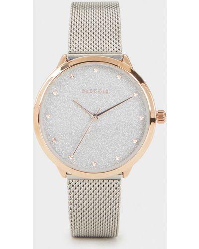 Водонепроницаемые часы с круглым циферблатом серебряный Parfois