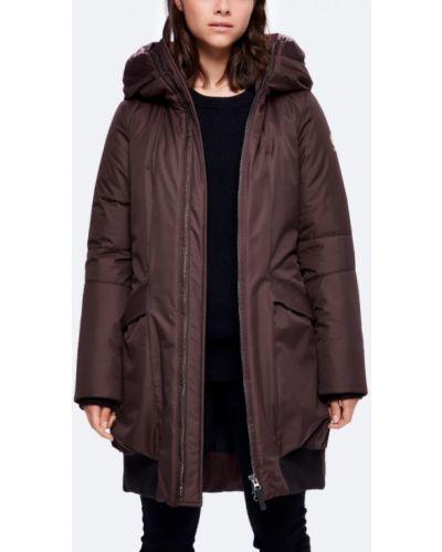 Утепленная куртка длинная бордовый Kanuk