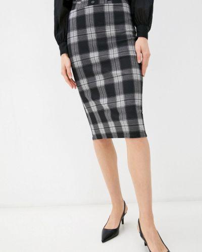 Прямая юбка - серая Moki