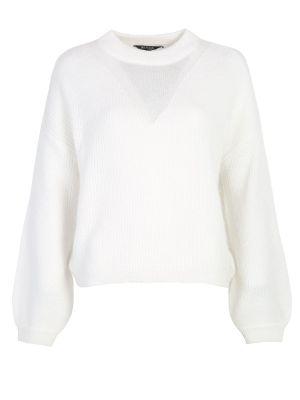 Sweter z angory - biały Top Secret