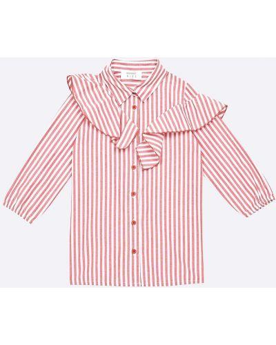 Красная блуза с воротником Trendyol