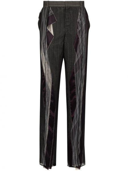 Czarne spodnie wełniane z haftem Y/project