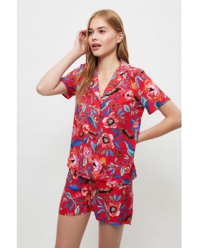 Piżama z wiskozy Trendyol