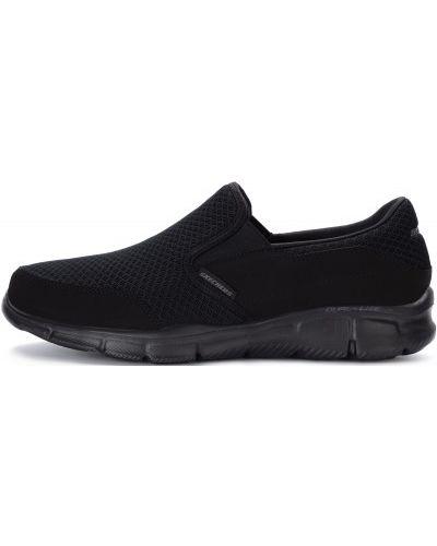 Слипоны черные спортивный Skechers