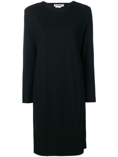 Свободное черное платье миди винтажное свободного кроя Jil Sander Pre-owned
