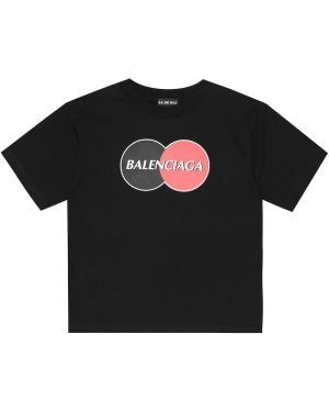 T-shirt czarny Balenciaga Kids