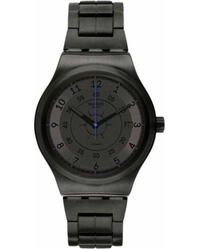 Акриловые серебряные часы механические Swatch