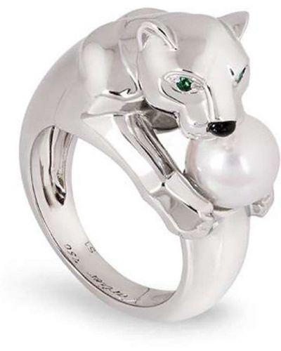 Белое кольцо с жемчугом Cartier