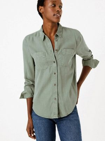 Рубашка зеленый Marks & Spencer