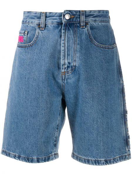 Niebieskie jeansy bawełniane perły Gcds