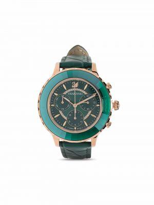 Зеленые спортивные часы Swarovski