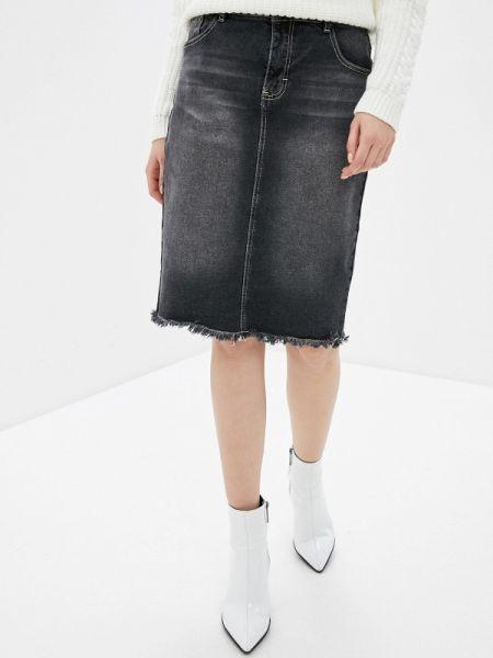 Джинсовая юбка весенняя серая Concept Club