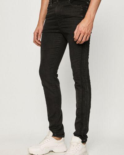 Czarne jeansy rurki bawełniane Diesel