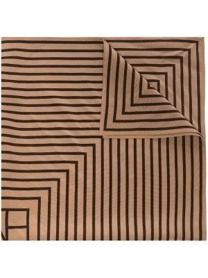 Шелковый платок - коричневый Toteme