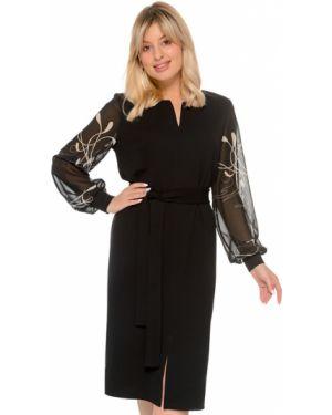Платье с поясом платье-сарафан шифоновое Nikol