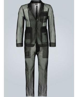 Костюм черный костюм-двойка Thom Browne